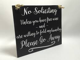 handmade no soliciting sign please go away sign funny
