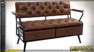 canapé industriel canapé original vintage et industriel finition capitonnée