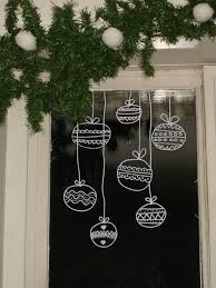 appealing window decorations applying ornaments draw on