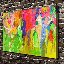 compare prices on wall pictures for bedroom dancing online a1784 leroy neiman abstract sexy girl dancing hd canvas print home decoration living room bedroom