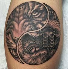 depiction gallery tattoos clark tiger yin yang