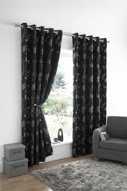 stylish trendy ringtop eyelet lined flower leaf pattern curtains
