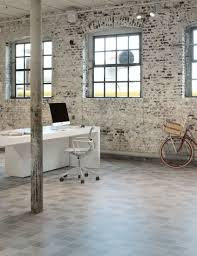 floor and decor warehouse home office warehouse industrial bike desk exposed stone