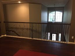 Half Wood Wall by Replacing Half Wall With Wrought Iron Balusters U2013 Angela East