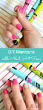 diy manicure with nail art pens