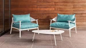 Turquoise Lounge Chair Emu Terramare Seating Coalesse