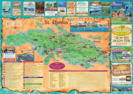 road map of st usvi interactive map of st us islands island treasure