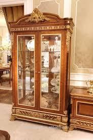 Showcase Glass Cabinet Furniture Modern Minimalis Standing Clear Glass Showcase Cabinet