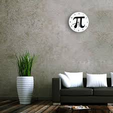 free shipping 1piece pi number wall clock geek nerd math chic