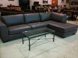 Iron Floor L L Shaped Grey Leather Sofa With Black Base Combined By