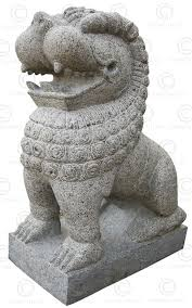 lions statues pair granite lions 09mm7a tamil nadu southern india