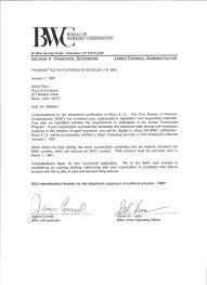 bureau workers comp mco report card for riczo co and letter of approval from ohio