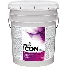 shop olympic icon white eggshell latex interior paint and primer