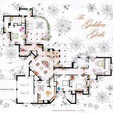 How To Draw A House Floor Plan The Golden Girls House Floorplan V 2