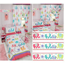 patchwork elephant childrens matching bedding sets curtains