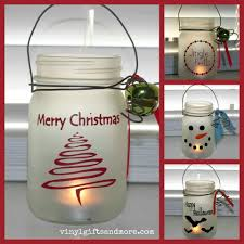 mason jars but have several together and with strand of christmas