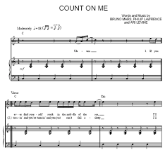 Count On You By Bruno Mars On Me Bruno Mars Sheet Purple Market Area