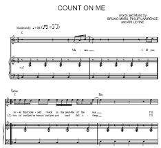 Count On Me Bruno Mars Piano Pdf On Me Bruno Mars Sheet Purple Market Area