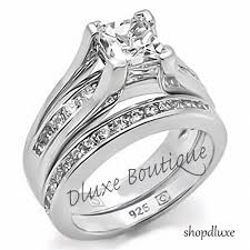 womens wedding ring sets sterling silver wedding ring sets womens sterling silver wedding