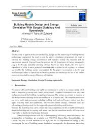 tutorial google sketchup 7 pdf building models design and energy pdf download available