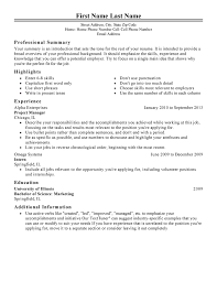 Work Experience In Resume Sample by Management Resume Templates To Impress Any Employer Livecareer