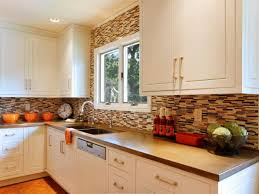 brown kitchen cabinets with white subway tile u2013 quicua com