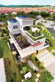 small eco friendly house plans tropical house design with cool rooftop garden and canopy setia