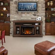 canterbury electric fireplace media console in espresso nefp29 1415e