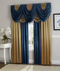 Navy Blue Curtains Navy Blue Gold Hyatt Curtain Set Moshells