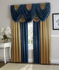 Blue And Gold Curtains Navy Blue Gold Hyatt Curtain Set Moshells