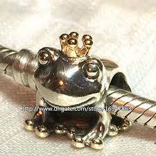 bracelet charm beads silver images 2018 100 s925 sterling silver 14k real gold frog prince charm jpg