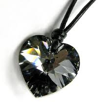 heart leather necklace images Buy swarovski elements crystal silver night heart charm pendant jpg