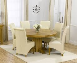 wood round dining table set for 6 ideas table ideas round kitchen