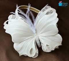 white butterfly headband for a presentperfect creations