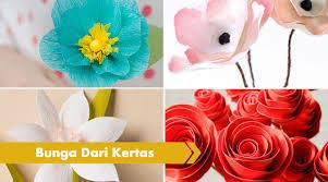 membuat hiasan bunga dari kertas lipat 27 cara membuat bunga dari kertas sangat mudah