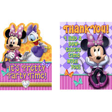 Hallmark Invitation Cards Amazon Com Minnie U0027s Bow Tique Invite U0026 Thank You Combo By