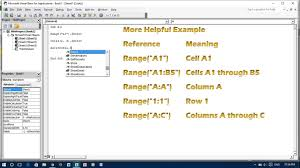 excel vba select a cell u0026 write value into it youtube