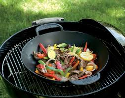 amazon com weber 7422 gourmet bbq system wok outdoor grill