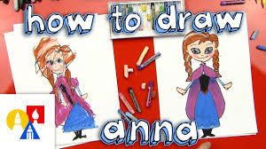 draw anna frozen young artists