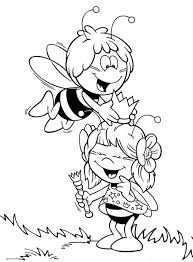 maya bee put crown friend head coloring pages batch