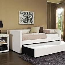 bedroom full size queen daybed with tall headboard and white