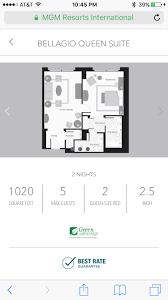 bellagio floor plan aria u0026 bellagio suite question