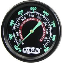 Backyard Grill Thermometer by Man Law 2 Inch Stainless Steel Grill Smoker Thermometer With Glow