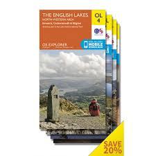Lake District England Map by Os Explorer Lake District Map Set Ordnance Survey Shop