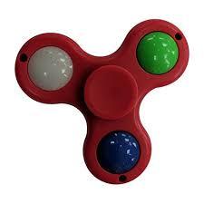 a light up fidget spinner multi led light up fidget spinner red walmart com