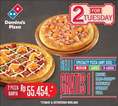 domino pizza tangerang selatan domino s pizza 2 for tuesday beli 1 dapat gratis 1 hanya rp