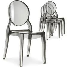 chaises plexi chaise lot de 4 chaises plexi transparent fumé meuble