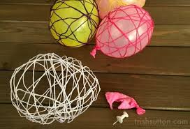 Diy Easter Decorations String Eggs by Diy Spring Decor String Easter Eggs
