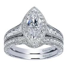 engagement ring engravings 14k white marquise halo diamond engagement ring with engraved
