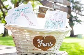 wedding ceremony fans invitations more photos fans for summer ceremony in basket